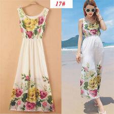 Sexy Women Long Boho Maxi Evening Party Dress Chiffon Dress Summer Beach Dresses-FDGHS