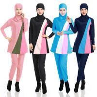 3PCS Women Muslim Full Cover Swim Modest Beachwear Arab Burkini Swimwear Hijab