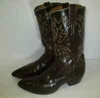 Mens Justin Square Toe Cowboy Brown Boots Size 11 Ee Ebay
