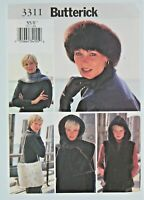 Butterick Sewing Pattern 3311 Size XS-S Misses Vest Headwrap Headband Scarf Bag
