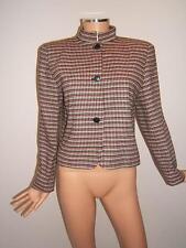 GIORGIO ARMANI 10  Woven Wool Red Black Designer Womens Vintage Jacket Blazer