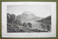 GERMANY Castle Konigstein - 1820s Copper Engraving by Cpt. Batty