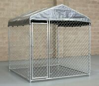 ALPHAPET® 2m x 2m HEAVY DUTY STEEL DOG PEN RUN ENCLOSURE CAGE CHICKEN INC ROOF