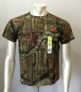 Mossy Oak Break Up Infinity Youth L Camouflage Short Sleeve Hunting T Shirt NEW