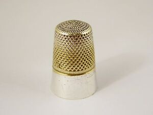 Antique Silver Plated Thimble