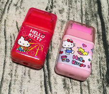Cute Sanrio Hello Kitty Erasers with Roller Clean Girl School Supply Gift Mimmy