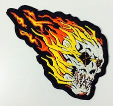 Flame Skull  biker MC PATCH