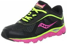Saucony Girls Lace Sneakers BLACK/Pink/Citron Youth Size 6 M