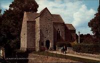 Wareham Dorset Color AK ~1960/70 Partie an der St. Martins Church Kirche Eingang