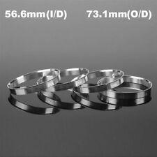 4Pcs Aluminum Wheel Hub Centric Rings Spigot Spacer Set 56.6mm ID to 73.1mm OD