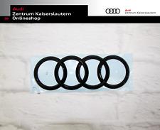 Audi A4 Limo 8W B9 (bis 2019 VFL) Original Audi Ringe schwarz vorne + hinten Set