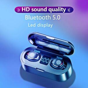 KUGE Wireless V5.0 Bluetooth Earphone HD Stereo Headphone Sports Waterproof Head
