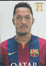 Postal postcard 21 ADRIANO  jug.  FC BARCELONA 14/15