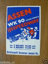 STICKER,DECAL ASSEN IJSSPEEDWAY  1990 WK 90 ASSEN 3/4-3-1990
