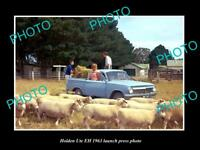 OLD LARGE HISTORIC PHOTO OF 1963 HOLDEN EH UTE LAUNCH PRESS PHOTO 1