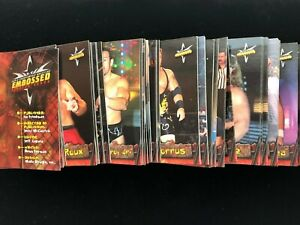 1999 Topps WCW Embossed Pick Your Wrestling Card to Complete the Set