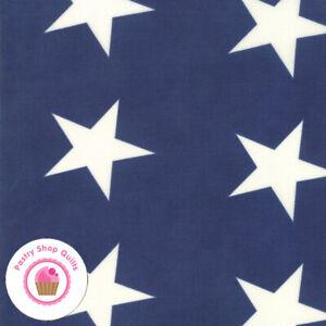 Moda MACKINAC ISLAND 14899 15 Blue American Stars MINICK & SIMPSON Quilt Fabric