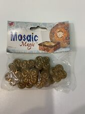 Celtic Shape Mosaic Tiles Acrylic Craft Tile 10 pc. in packaging