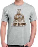 611 I am Groot mens T-shirt funny super hero guardian geek nerd cosplay retro