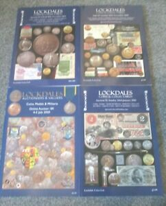 4 Auction Catalogue Lockdales Coins + Collectables Medals Miliraria Banknotes Et
