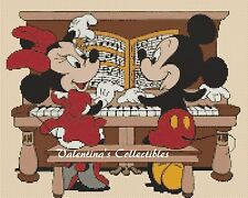 Cross Stitch MICKEY & MINNIE'S Music Recital- COMPLETE KIT #10-17 (Large Print)