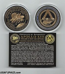 APOLLO 13 - 50th ANNIVERSARY - EXTREME - LIMITED EDITION - NASA FLOWN MEDALLION