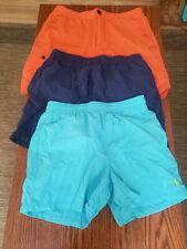 Polo Ralph Lauren Men's Swim Trunks Size Medium Lot Of 3 Blue Aqua Orange
