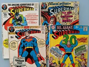 SUPERMAN Lot of 4 Giants; (207 240, 242, and 243);  Solid and Complete