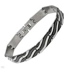 Brand New Gentlemens Bracelet Made in Black Enamel and Stainless steel.
