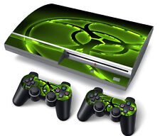 PS3 Original PlayStation 3 Skin Stickers PVC for Console & 2 Pads Biohazard