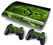 Ps3 Playstation 3 Skin Pegatinas Pvc Para Consola Y 2 Cojines De Biohazard
