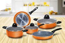 Batteria Aeternum Bialetti Simplicity arancione pentole induzione pz 8 - Rotex
