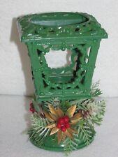 "Vintage Christmas Lamplighter~Green~Plastic ~Lantern Candleholder~No candle~5.5""T"