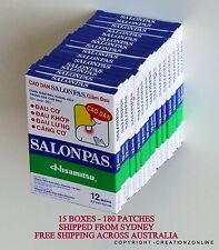 SALONPAS 180 Pain Relieving Patches Arthritis Muscle Pain Relief FAST SHIP SYD