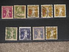 Switzerland Miscellaneous William Tell Stamps, used, used