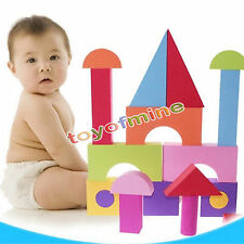 50pcs Colorful EVA Foam Building Blocks Bricks Set Kids Children Soft Toy Gift