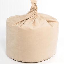 XL Beanbag Filled Faux Suede Beanbags Adult Bean bag  Beanbag Lounger Cream