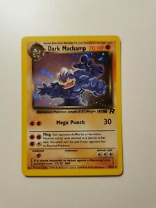 Pokémon Karte Dark Machamp Dunkles Machomei Holo Rare Team Rocket 10/82 TCG