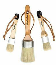 Featherline Series Pro Chalked Paint & Waxing Complete 3 Brush Set