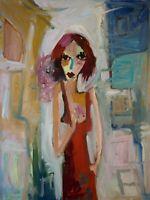 "Original Portrait Art Painting on Stretched Canvas 24"" x 18"""