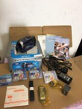 SONY DCR-DVD101E DVD Camcorder 120x Digital Zoom Carl Zeiss Handycam - Working