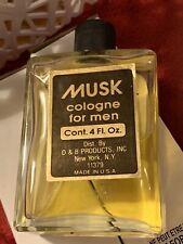 D & B Products MUSK 4oz COLOGNE Men SPLASH Rare