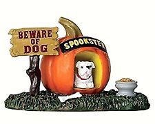 Lemax 64053 PUMPKIN DOGHOUSE Spooky Town Accessories Halloween Decor I