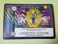 Dragon Ball Z DBZ CCG TCG Custom Panini Proxy Foil 1 Black Rupture Drill