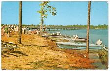 BOATS Outboard Motors TOLEDO LAKE Patroon Texas CREEK 1960's Photo PC Postcard