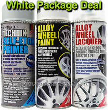 E-Tech Professional WHITE Car Alloy Wheel Spray Paint Lacquer Self Etch Primer