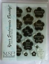 NEW MSE! My Sentiments Exactly! Clear Stamps Y544 Posey Tags