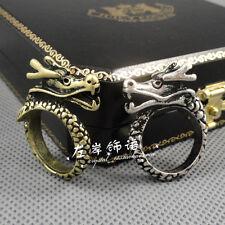Lot 2pcs Fashion Retro COOL Men Women Punk Gothic Style Dragon Copper Ring