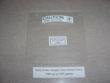 Bally, High Voltage, Clear Cover, for Bottom Power Supply Board! '80 - '85 Games