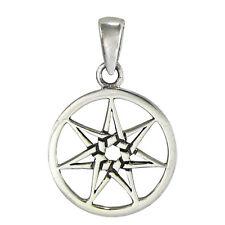 Small Sterling Silver Septagram Heptagram Fairy Star Magic Faerie Wicca Pendant